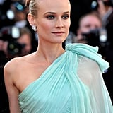 Diane Kruger looked stunning in an aqua gown at the opening of the Cannes Film Festival and the premiere of Moonrise Kingdom.