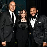 Pictured: Cory Booker, Kamala Harris, and Anthony Anderson