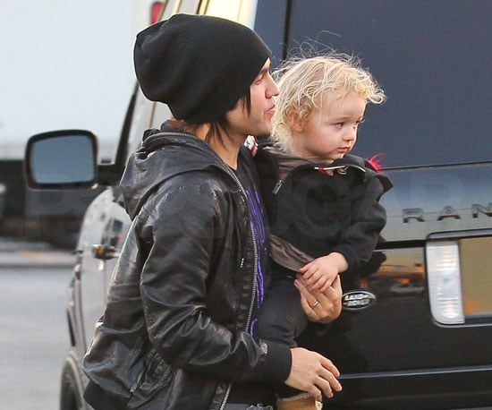 Slide Picture of Pete Wentz and Bronx at the Recording Studio