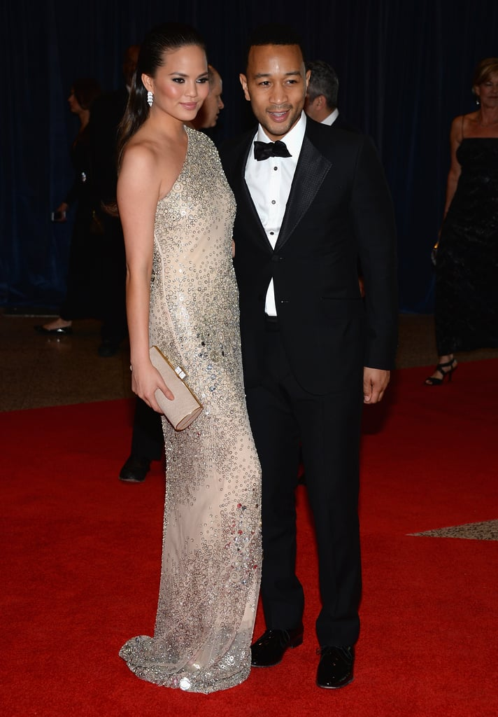 Chrissy Teigen and John Legend attended the the 2013 White House Correspondents Dinner.
