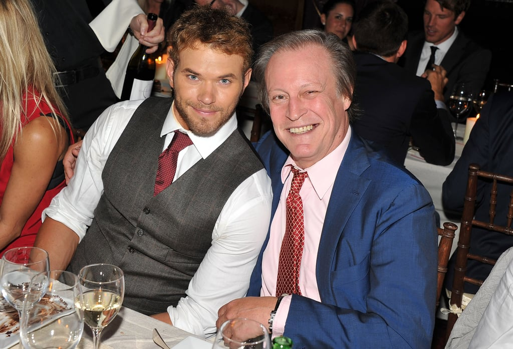 Kellan Lutz with photographer Patrick McMullan at Tommy Hilfiger's dinner.