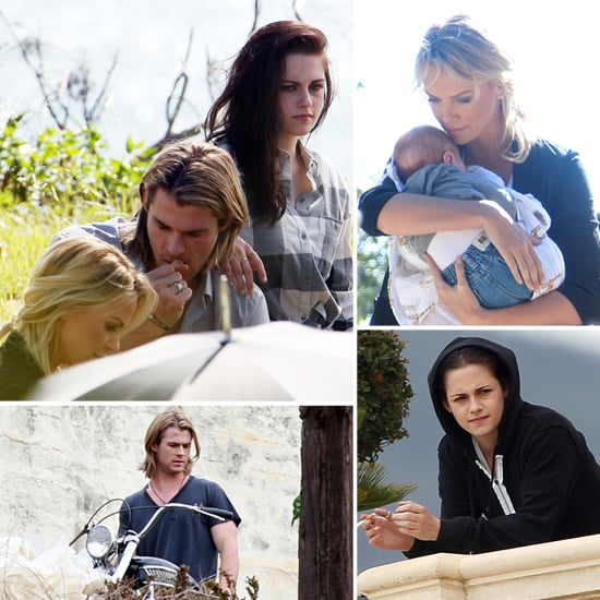 Kristen Stewart, Charlize Theron, and Chris Hemsworth Reunite For a SWATH Photo Shoot