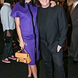 Lily Kwong and Michael Kors feted the designer's runway show after the models walked.