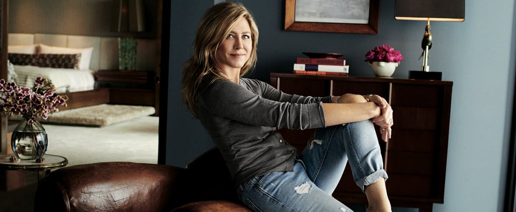 "Jennifer Aniston's ""At Home"" Jeans Are Less Than $250 and Really Kind of Sexy"
