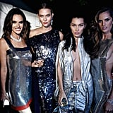 Alessandra Ambrosio, Karlie Kloss, Bella Hadid, and Izabel Goulart steamed up the amfAR AIDS Gala in 2016.