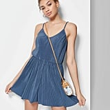 Women's Strappy V-Neck Rib-Knit Romper