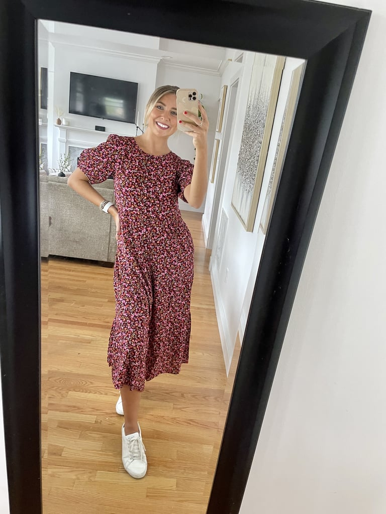 Floral Puff-Sleeve Midi Dress From Old Navy | Editor Review
