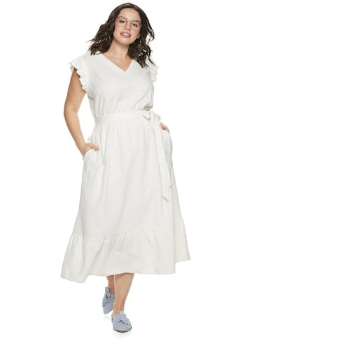 POPSUGAR Plus Size Belted Maxi Dress | The Absolute Best ...