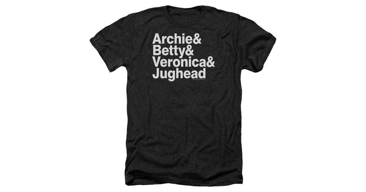 62dff4c2c1f75 Archie Comics Betty Veronica & Jughead Ampersand List T-Shirt ...