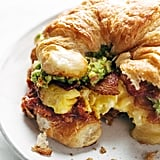 Croissant Breakfast Sandwich With Guacamole and Garlic Butter Tomato Sauce