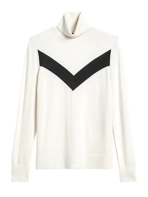 Washable Merino Chevron Sweater
