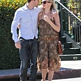 Kate Bosworth and Michael Polish looked at each other.