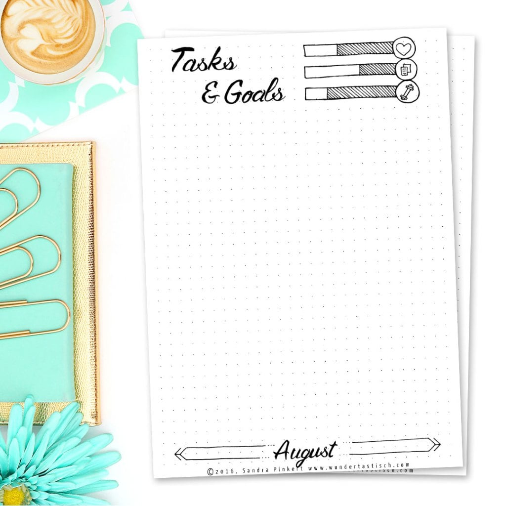 Printable Bullet Journal Page