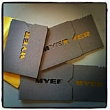 It's that time again! The Myer Spring/Summer show invitations arrived this week.