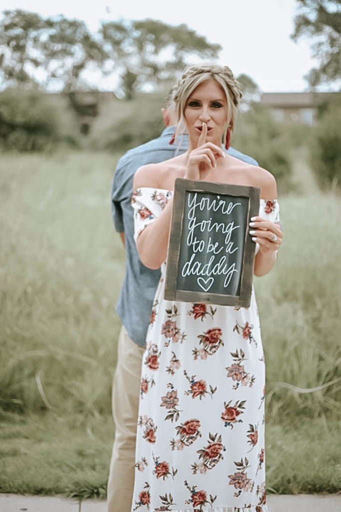 See Stunning Photos of a Woman Surprising Her Husband With Pregnancy News