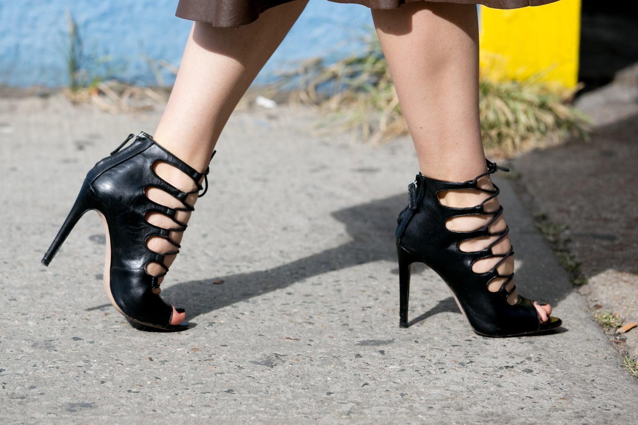 Hot to trot in Zara heels.