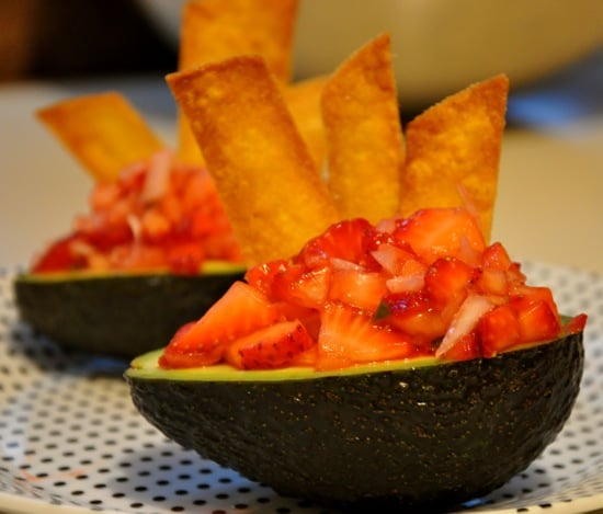 Served in an Avocado Bowl, Strawberry Salsa Is Scrumptious