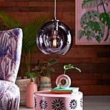 Purple Glass Pendant Light by Drew Barrymore Flower Home