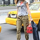 We have a thing for these statement heels — and the effect they have on dressed-down cargos. Source: Greg Kessler