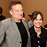 At a political fundraiser in June 2008, Robin reconnected with his Mrs. Doubtfire costar Sally Field.