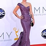 Kelly Osbourne posed in her Zac Posen dress.