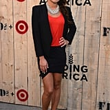 Lea Michele stepped out to host the Target + Feed party in NYC.