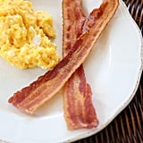 Scramble eggs in bacon fat.