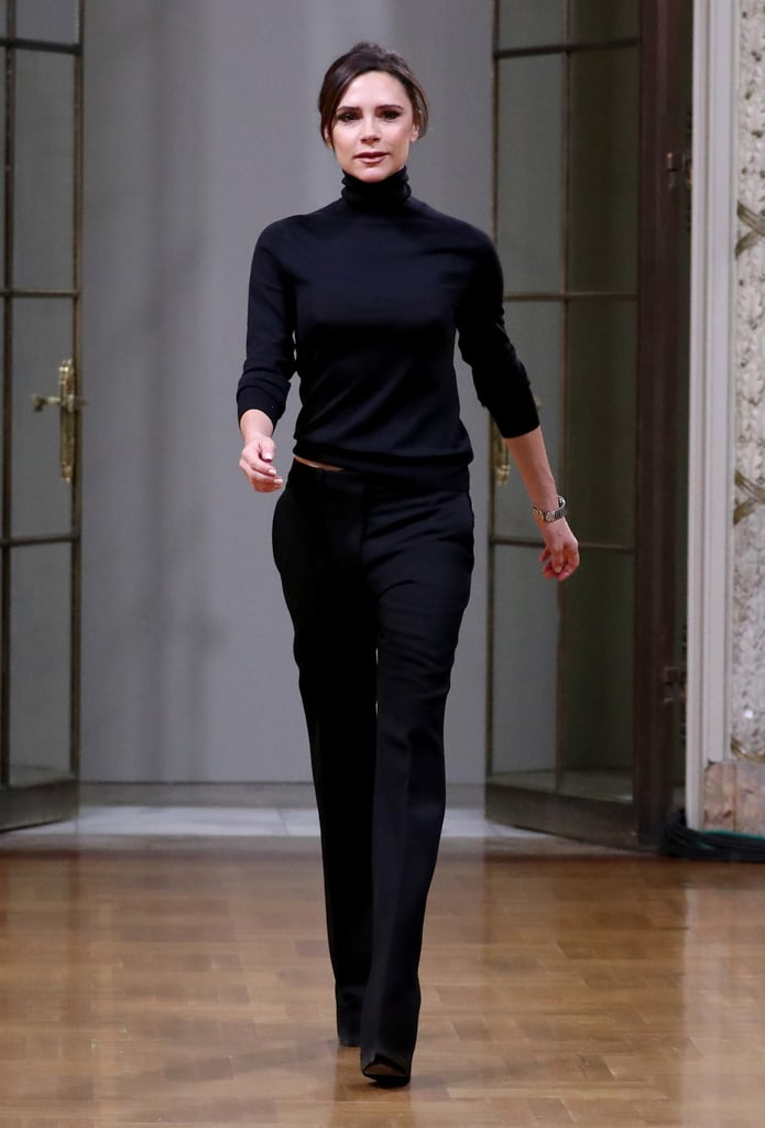 Victoria Beckham Wore a Surprisingly Simple Look to Present Her Autumn Collection