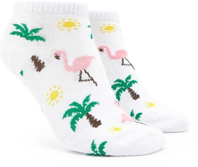 Forever 21 Flamingo Print Ankle Socks