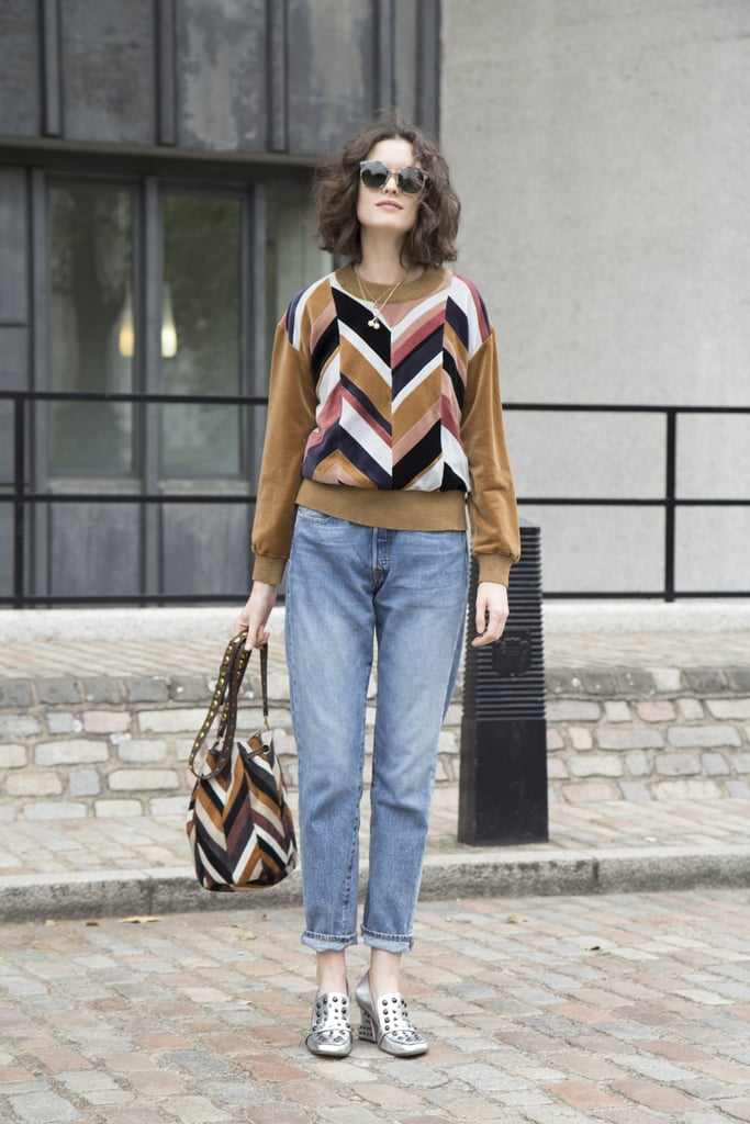 With a quirky knit and standout footwear