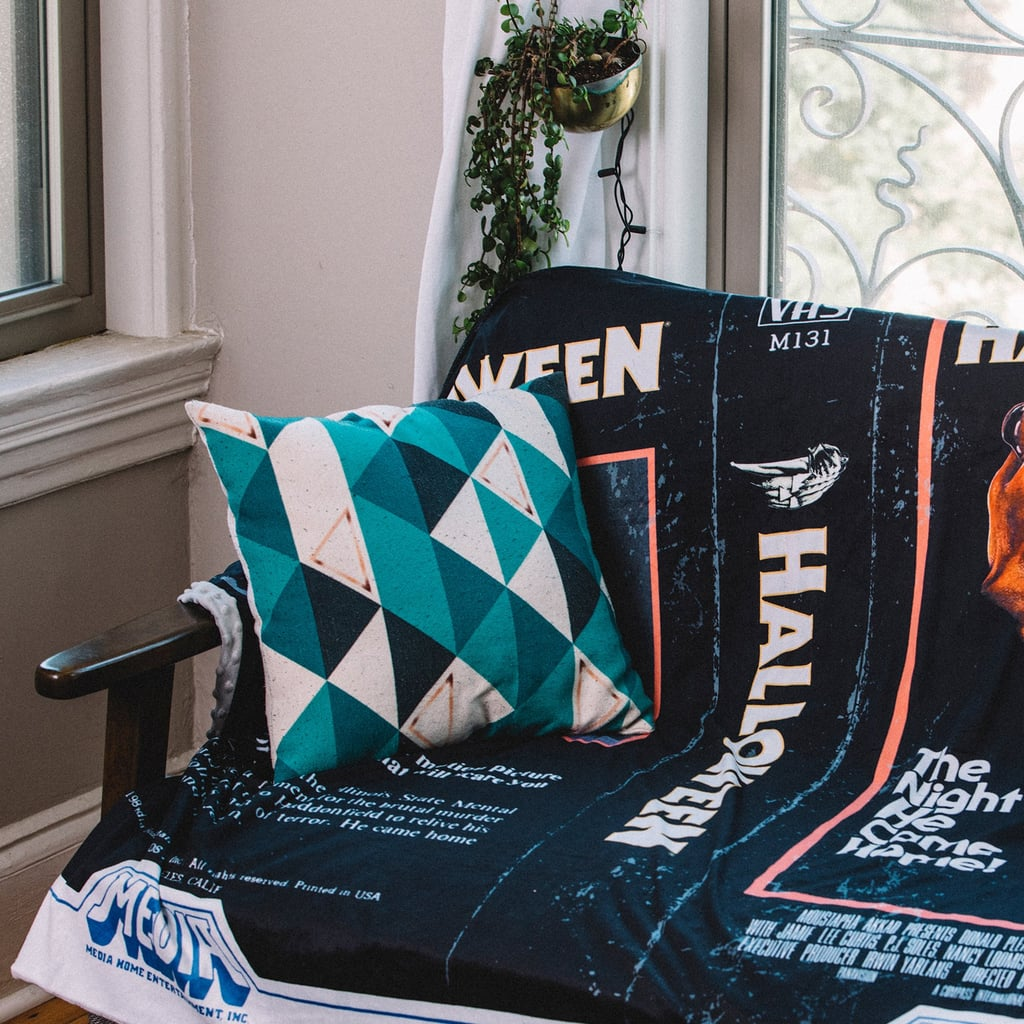 Nostalgic Halloween Horror Movie and Book Throw Blankets