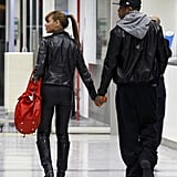 They held hands while arriving in Nice, France, in January 2010.