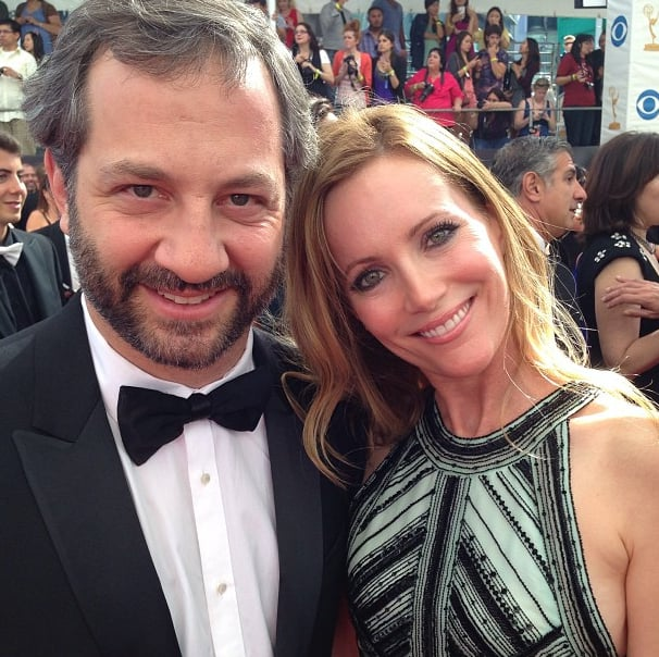 Stylish couple alert! Judd Apatow and Leslie Mann made a chic pair in their black-tie attire. Source: Instagram user peoplemag