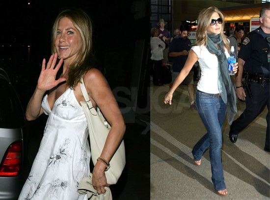 Jennifer Aniston Flies to London to Join Boyfriend John Mayer On Tour