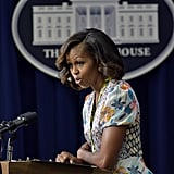 "Michelle Obama spoke at the screening as part of the 50th anniversary of Martin Luther King Jr.'s ""I Have a Dream"" speech."
