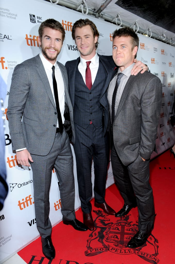 Liam and Luke joined Chris on the red carpet during the Rush premiere at the 2013 Toronto Film Festival.