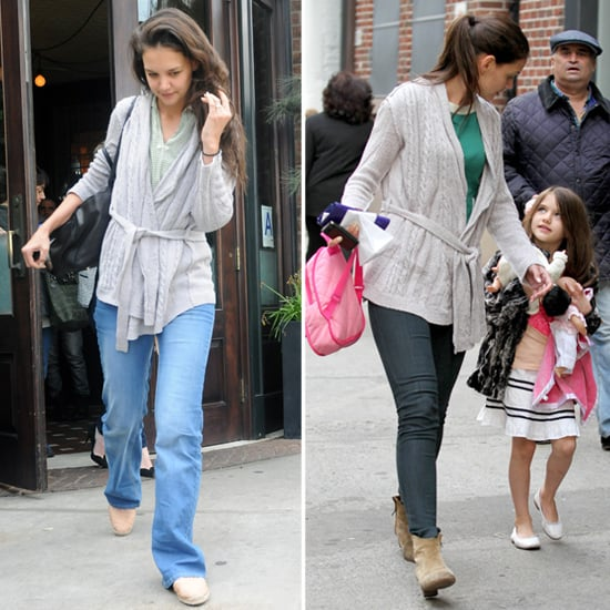 Katie and Suri Hit the Big Apple as Tom Preps For a Shirtless Summer