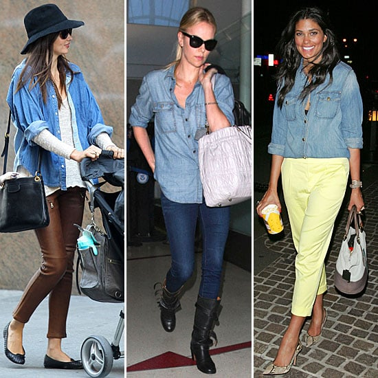 Celebrities Wearing Denim Button Downs Popsugar Fashion