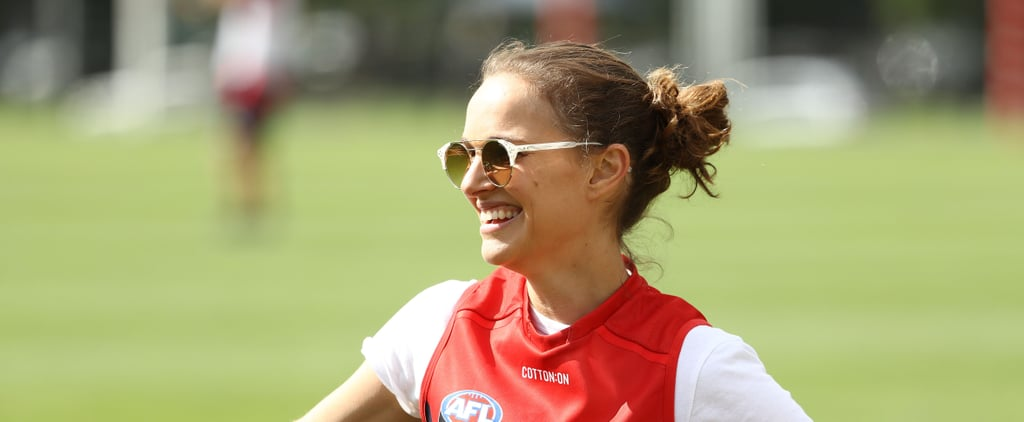 Natalie Portman Attends an AFL Training Session