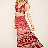Forever 21 x R by Raga Maxi Skirt ($48) and Crop Top ($35)
