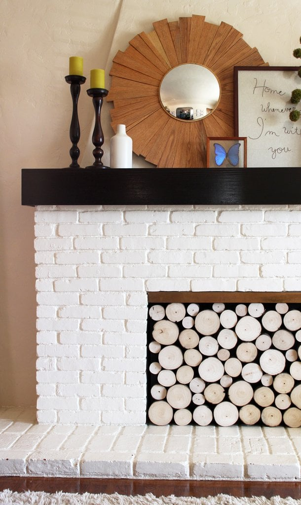 Faux-Log Fireplace Screen