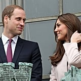 Kate Middleton and Prince William chatted in Cambridge.