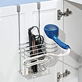 MDesign Metal Over Door Hair Care & Styling Tool Storage Organiser