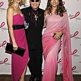 A hot pink-clad Gwyneth hit the carpet with Elton John and Elizabeth Hurley for a Breast Cancer Research Foundation party in April 2008.
