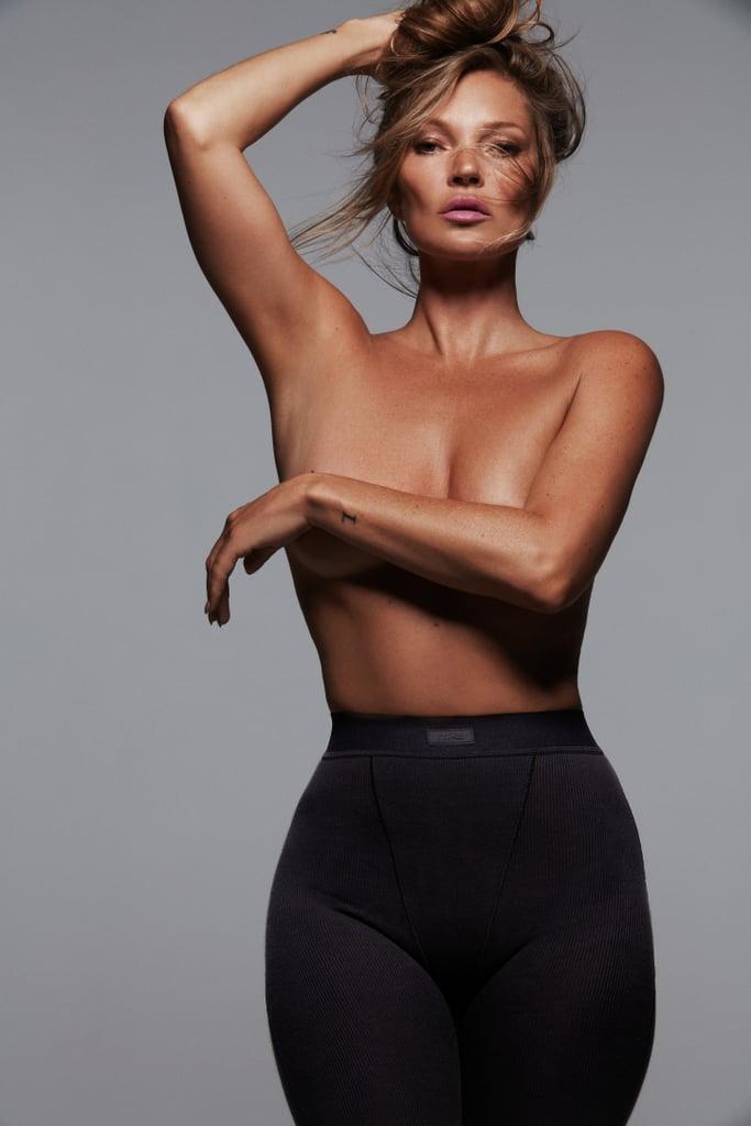Kate Moss Models For Kim Kardashian's Skims Collection