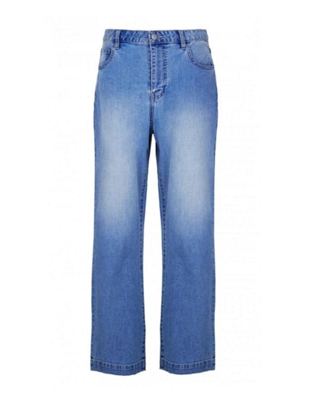 Tibi Cropped Flare Vintage Denim Jeans ($350)