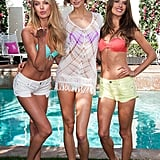 Candice Swanepoel, Karlie Kloss, and Alessandra Ambrosio sported bikinis at the launch of Victoria's Secret's 2013 swim collection in LA.