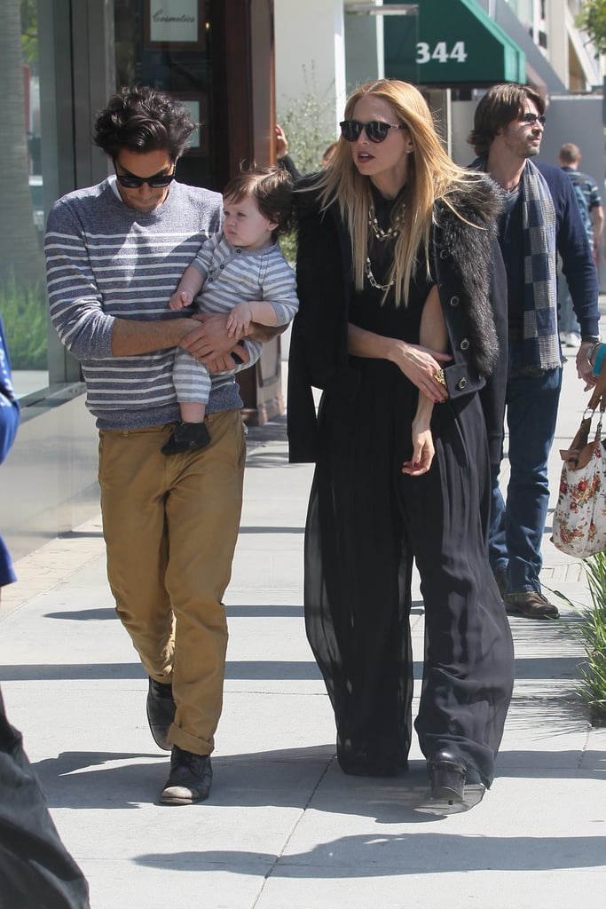 Rachel Zoe's best friend, Joey Maalouf, held onto baby Skyler.