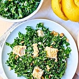Kale Salad With Baked Almond Chicken