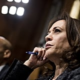 Senator Kamala Harris of California listens to Ford's testimony.